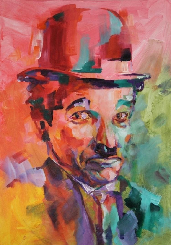 Charley Chaplin - art, popart, legend - dimamog | ello