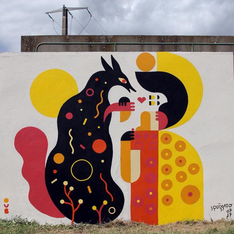 'Le renard la Geisha', mural co - pulcomayo | ello
