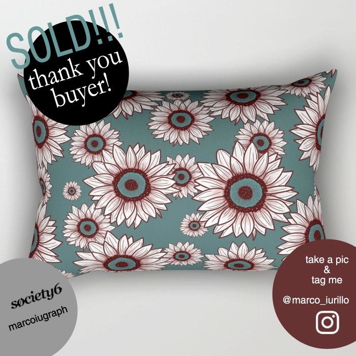 sunflowers, flowers, pillows - miideegrafiche | ello