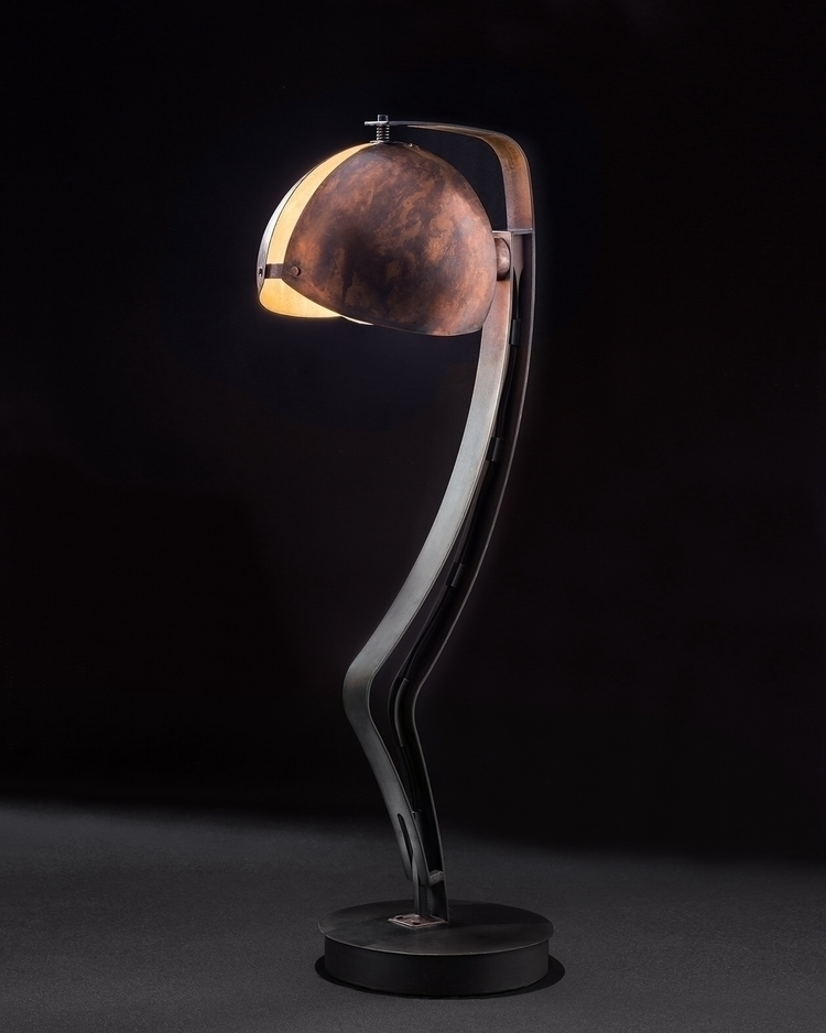 Desk lamp metal copper . Photog - ferruccio-maierna | ello