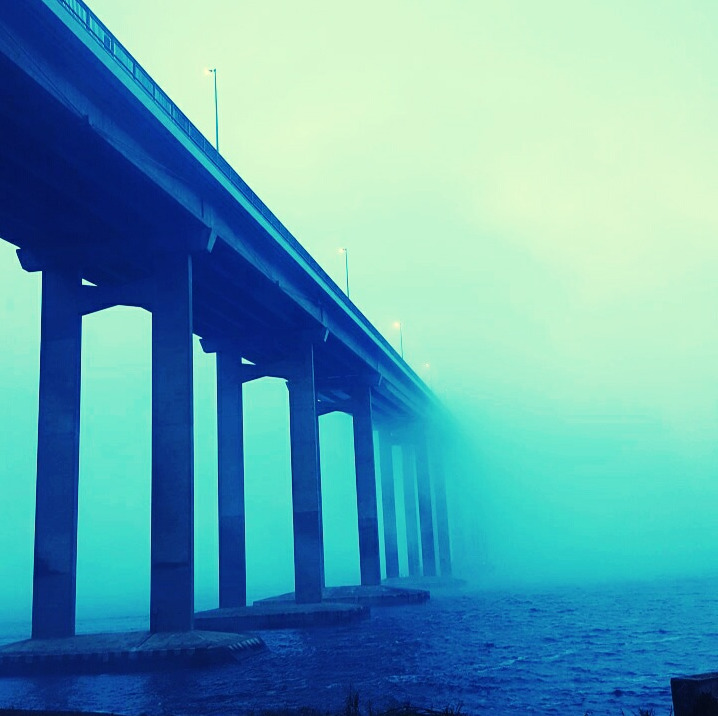 tasman bridge fog - bonniedoom | ello