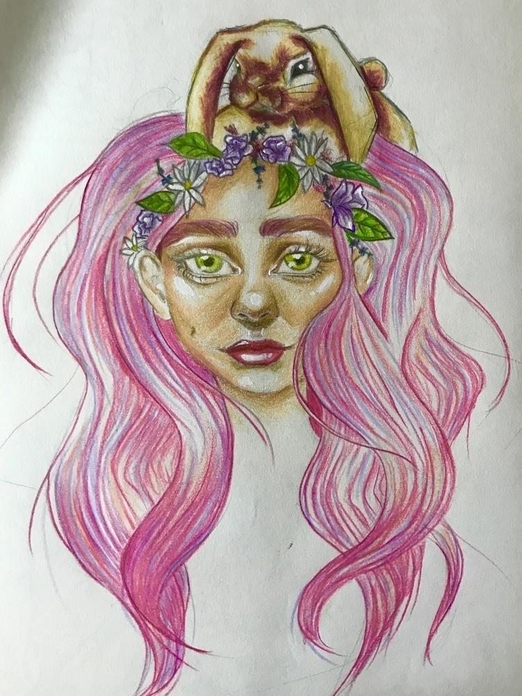October\17 - girl, colours, doodle - nellie380 | ello