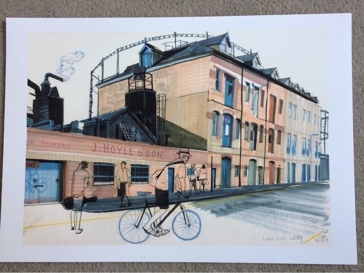 latest print. 'London Fields In - alexgreendraws | ello