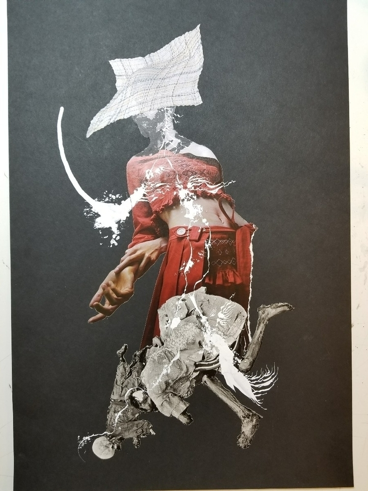 collage, collageart, penandink - curtispatrickarnold | ello