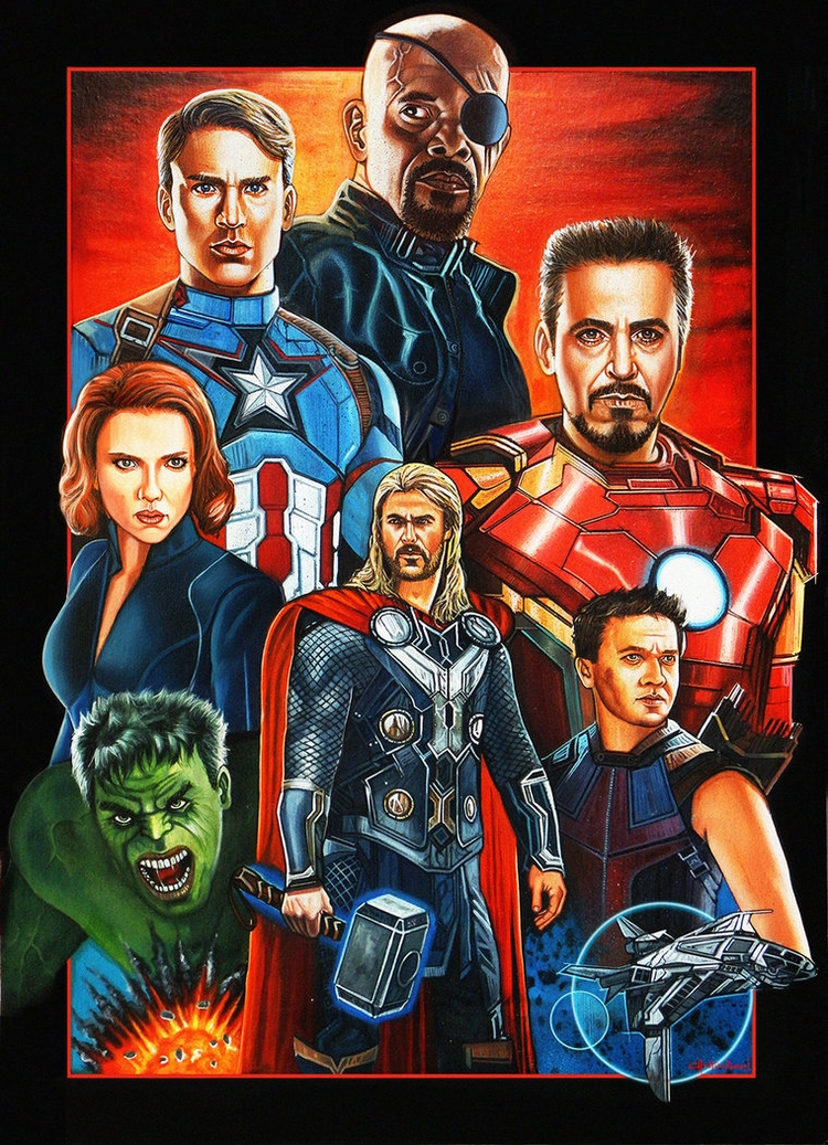 Avengers Colored Pencil, Temper - christianromani | ello
