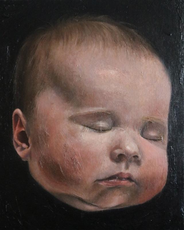 Baby 20x16 Oil Linen Board - baby - katayounstewart | ello