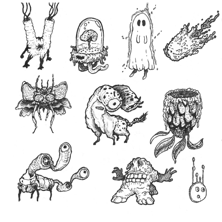 Variety Creatures - inktober, illustration - leebert | ello