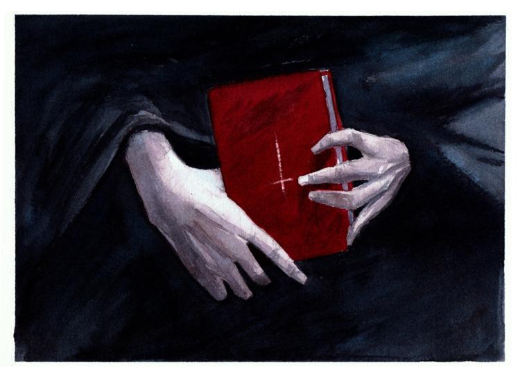 satan, bible, watercolor, painting - pretopasin   ello