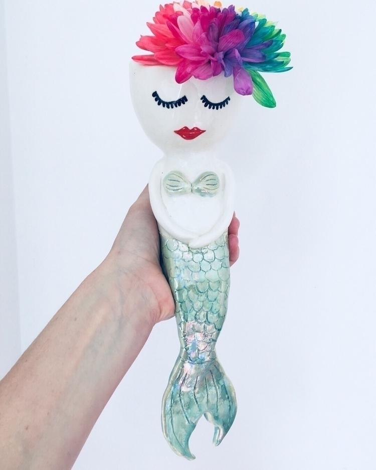 Handmade mermaid vase Mother pe - livingdecortwins | ello