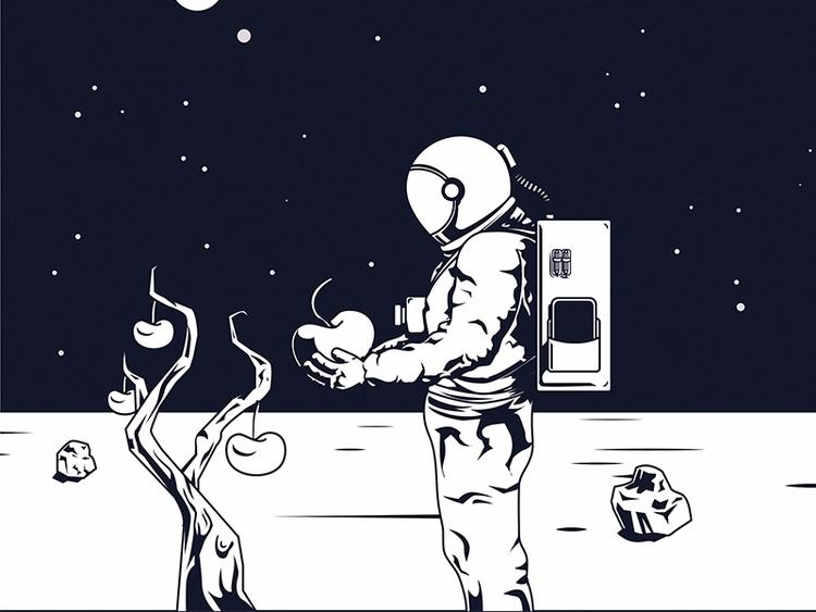 space, hope, astronaut, design - juliusllopis | ello