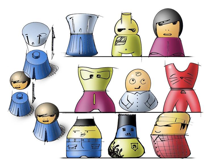 Mod Dolls. Collectible figures  - jamesowendesign | ello