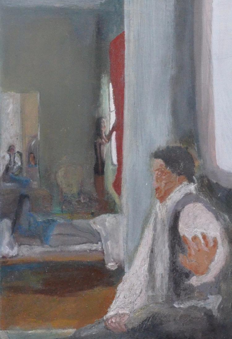 house Oil Canvas home memories  - pavlospassaris   ello