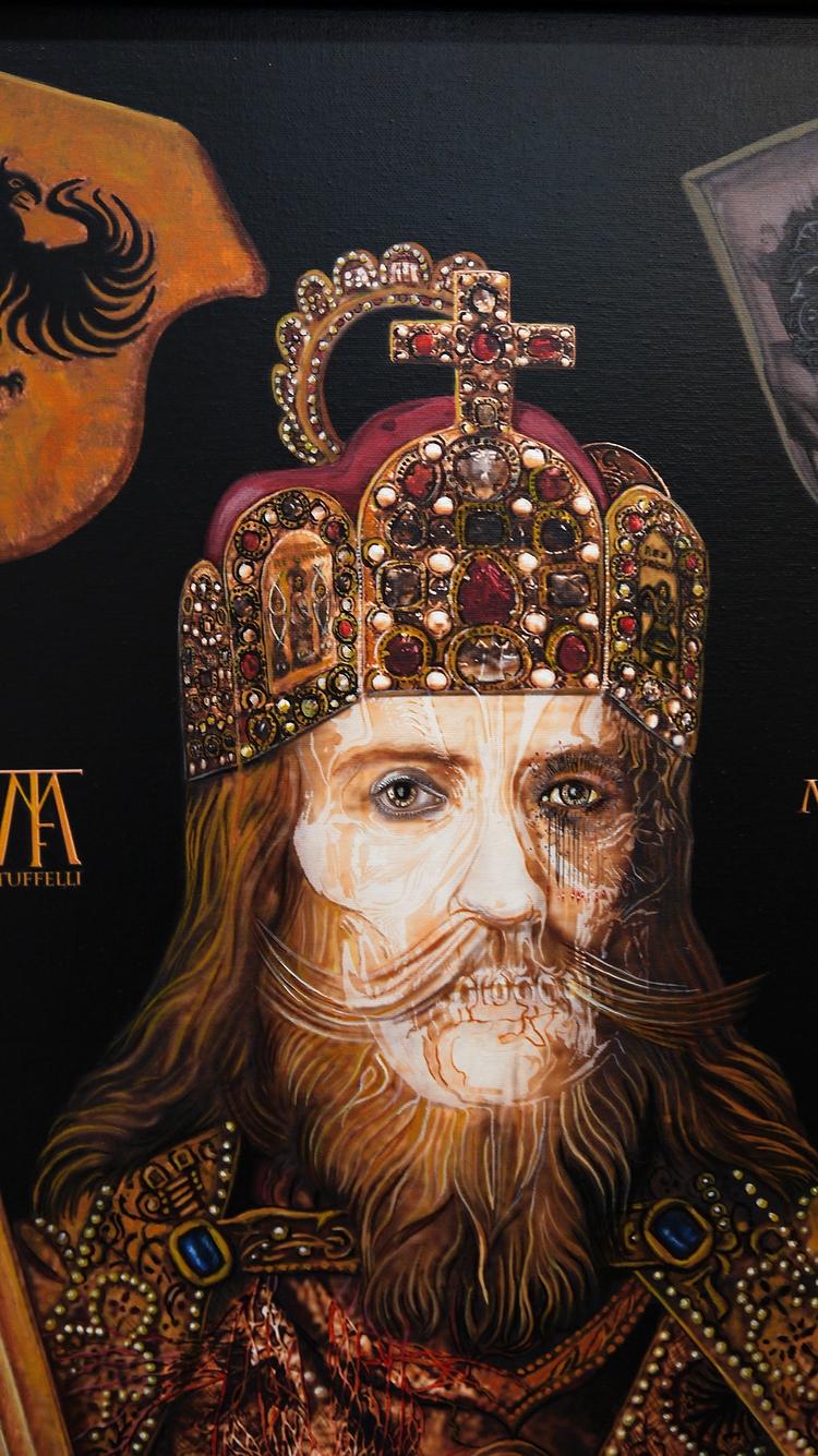Charlemagne (Détail) Acrylique  - tuffelli | ello