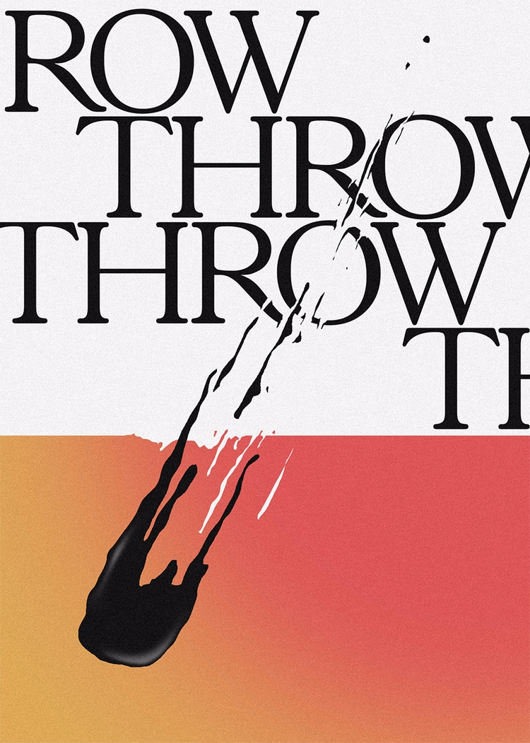 Throw - graphicdesign, design, poster - frabou | ello