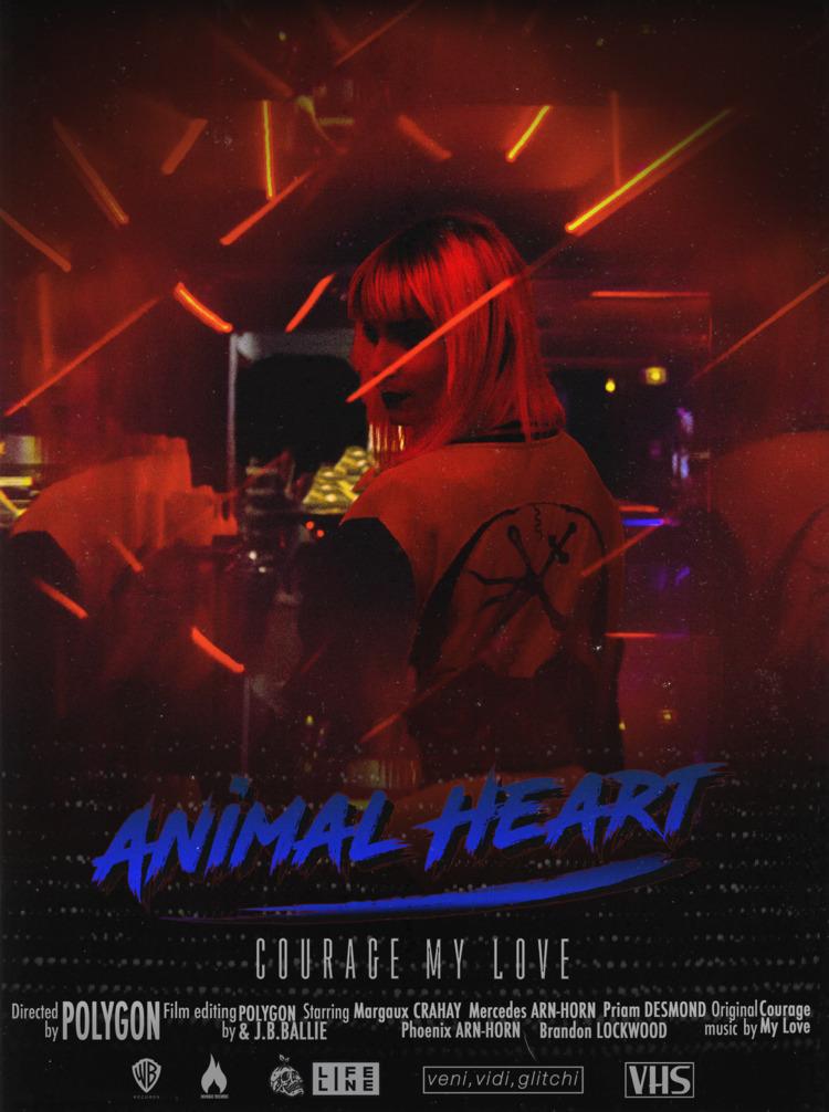 Poster Courage Animal Heart - digitalart - polygon1993   ello