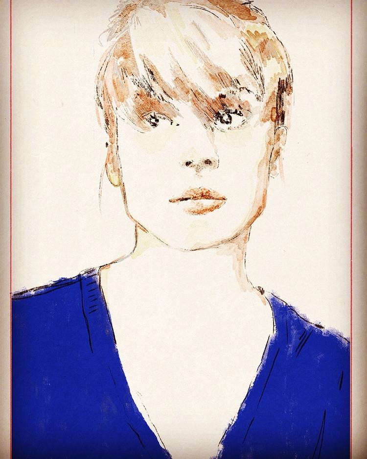 Françoise Dorleac elloillustrat - zoe_vadim | ello