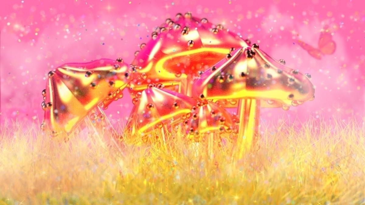 MAGIC MUSHROOM PART 2 - c4d#render#art#graphic#design#digitalart#3d#3dart#cgi#women#colourful#vaporwave - bambi_kirschner | ello