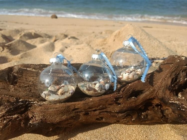 Hawaiian Shell Sea Glass Orname - flatterydesigns   ello
