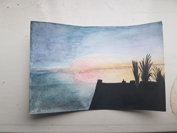 Watercolour study sunset - katjamontesque | ello