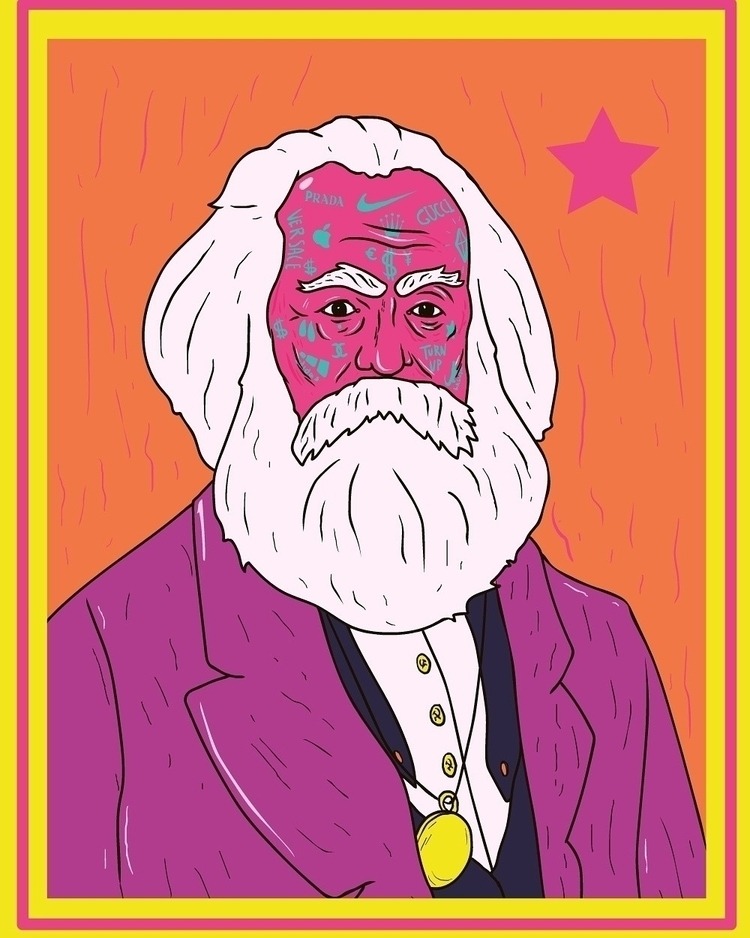 karlmarx, illustration, art, drawing - trippiesteff | ello