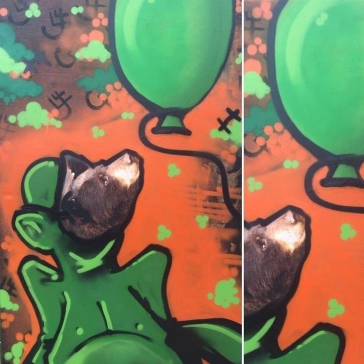 Bear mask piece - moca, broad, getty - balloonski | ello