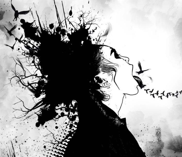 Ink - blackwhite, ink, photoshop - brureanima | ello