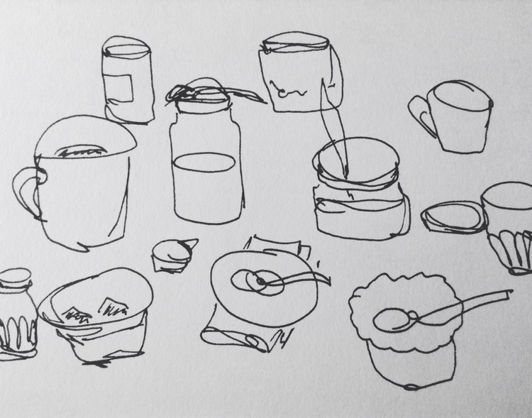 Simple objects - sketch, blindcontour - anna_bki | ello
