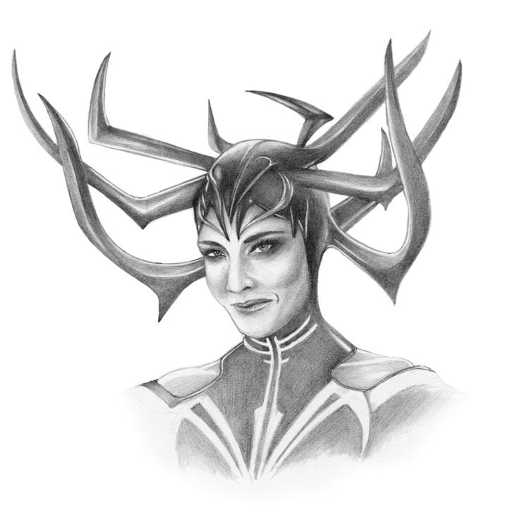 Hela - Thor, Art, Drawing - alexei5000   ello