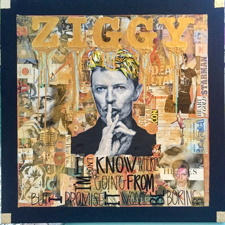 Iconic-David Bowie collage canv - antadams | ello