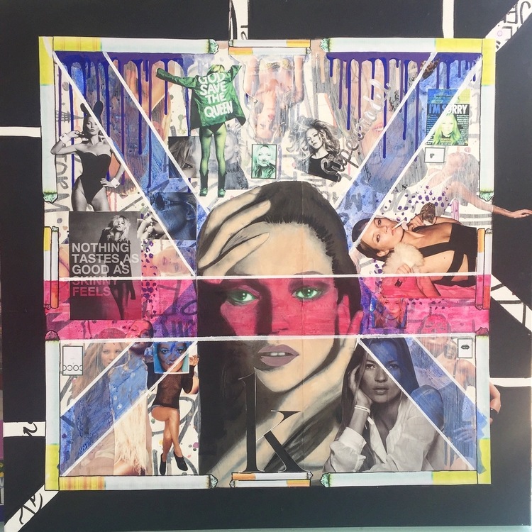 Iconic - Kate Moss Collage canv - antadams   ello