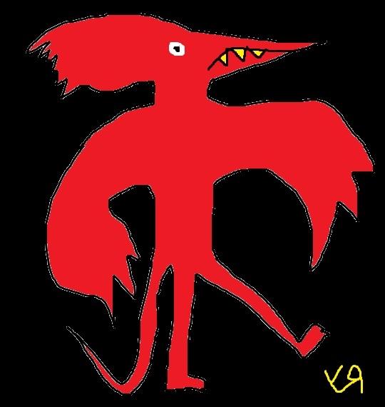 Red Lizard Bird Richard Yates  - richardfyates | ello
