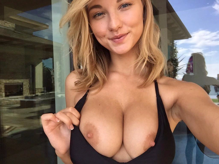 flash, boobs, tits, blonde, nsfw - guermo | ello