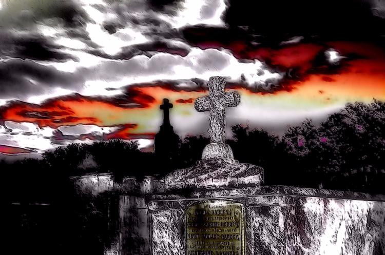 Walking City Dead - cemeteries, graveyards - greycrossstudios | ello