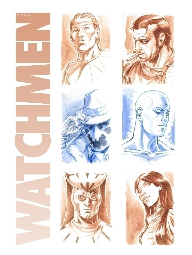 Watchmen - watchmen, dccomics, aquarelle - fredgri | ello