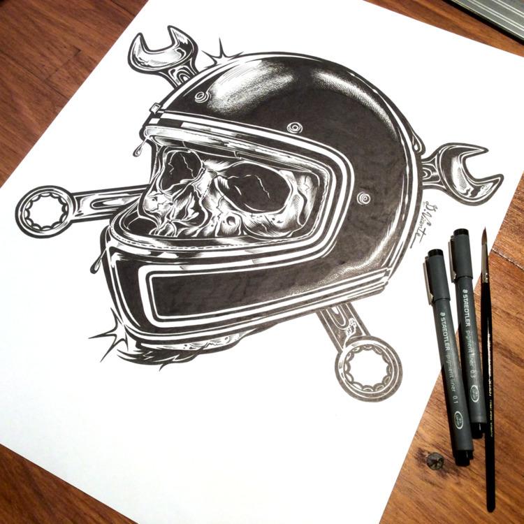 Deathtrap Skull - Ink paper (13 - dvicente777 | ello