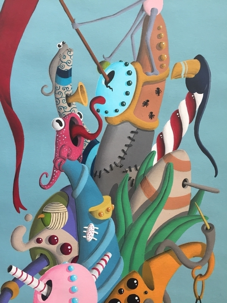art, painting, acrylic, surrealism - jimmy-p   ello