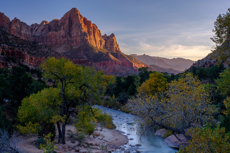 Watchman Sunset, Zion National  - gklebus   ello
