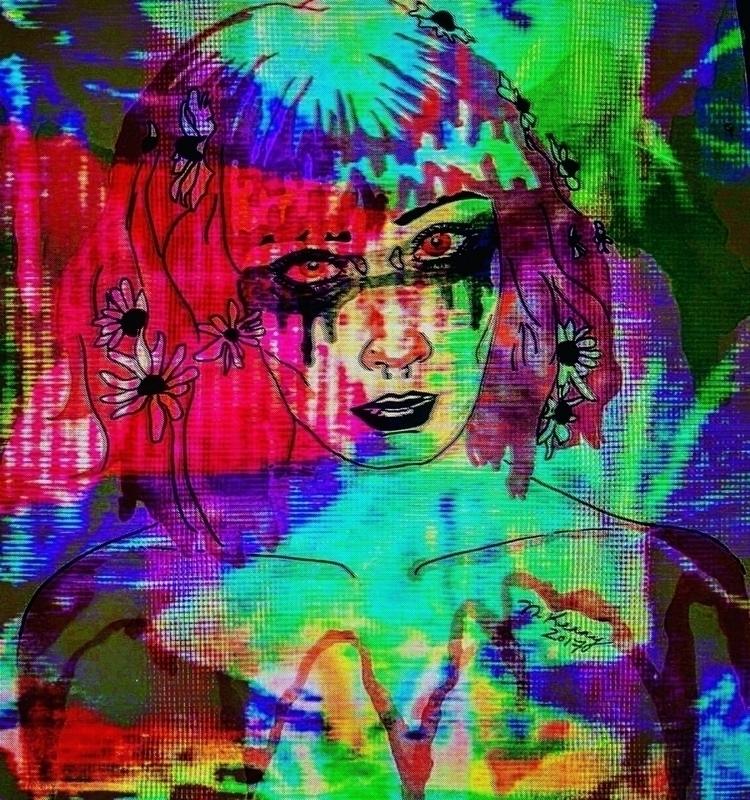 piece pal Nikki!  - glitchart, glitch - brainhurt | ello
