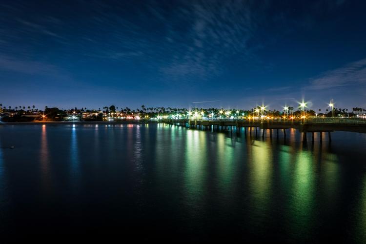 ocean, lights, nightphotography - andrei-stoica | ello
