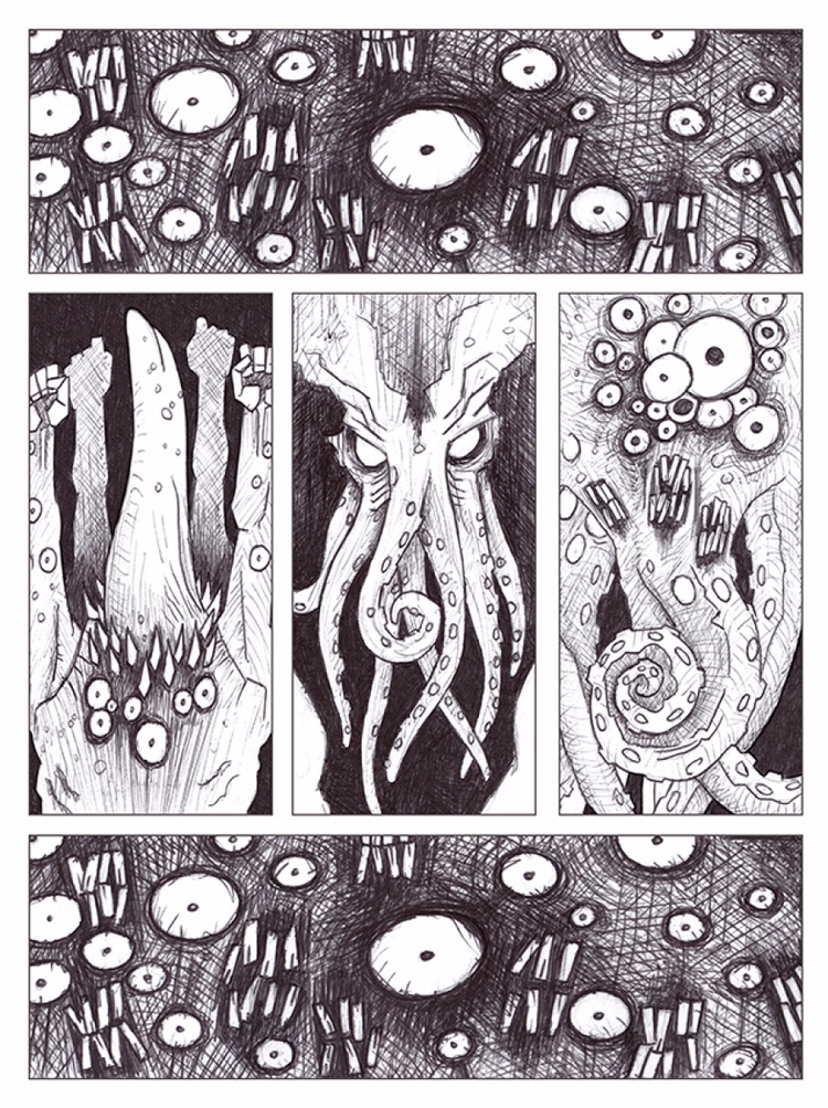 Cthulhu - lovecraft, tentacle, cthulhu - afornerot | ello