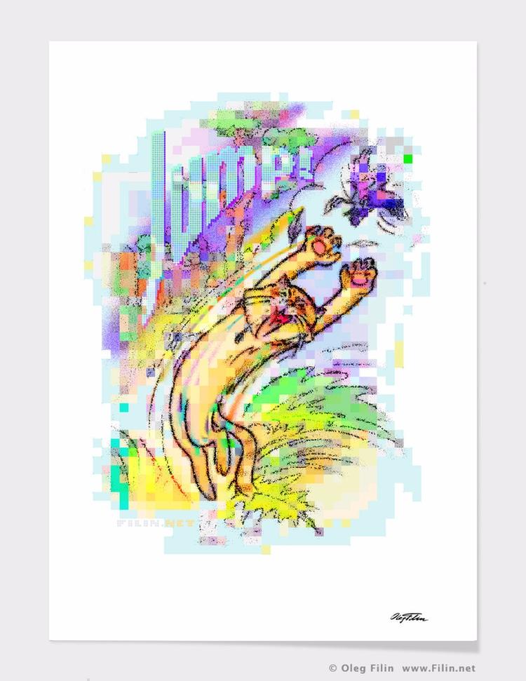 'Jump!' design, 2017 - cat, jump - filin | ello