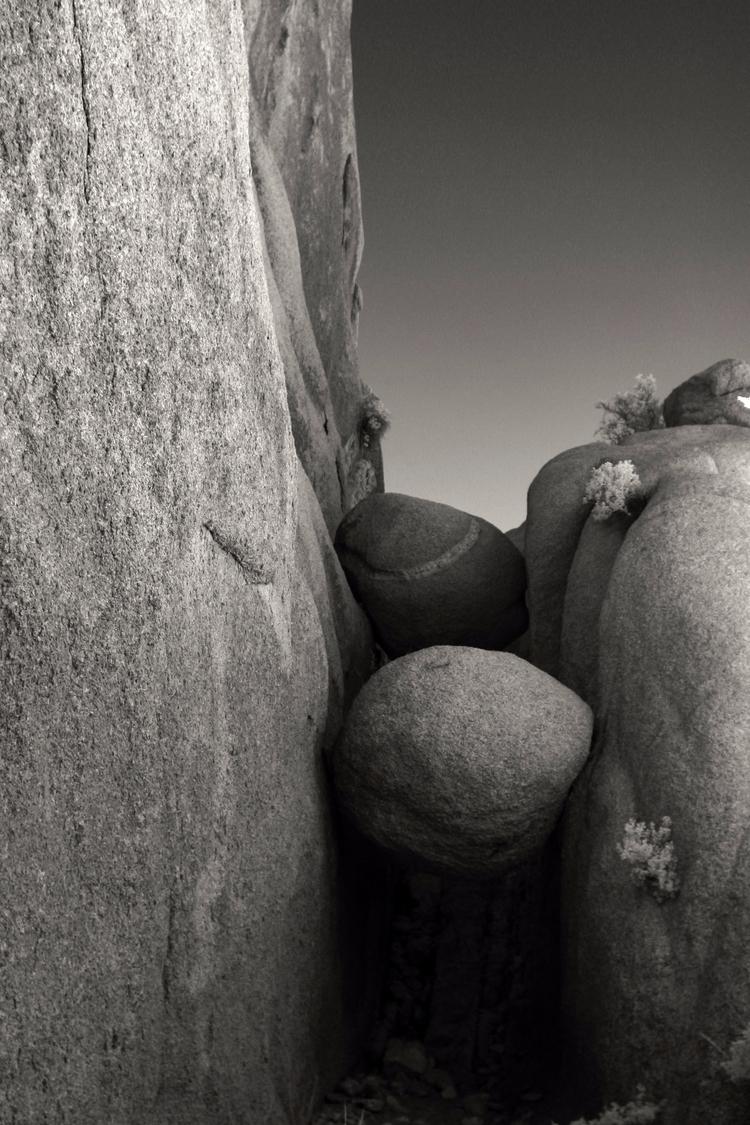 Rockfall Joshua Tree, shot digi - mlhannahfineart | ello