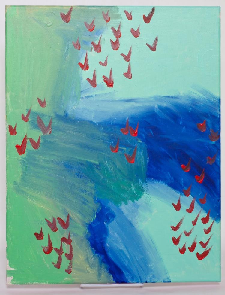 Populations acrylic canvas - original - sarahthebeanstalk | ello