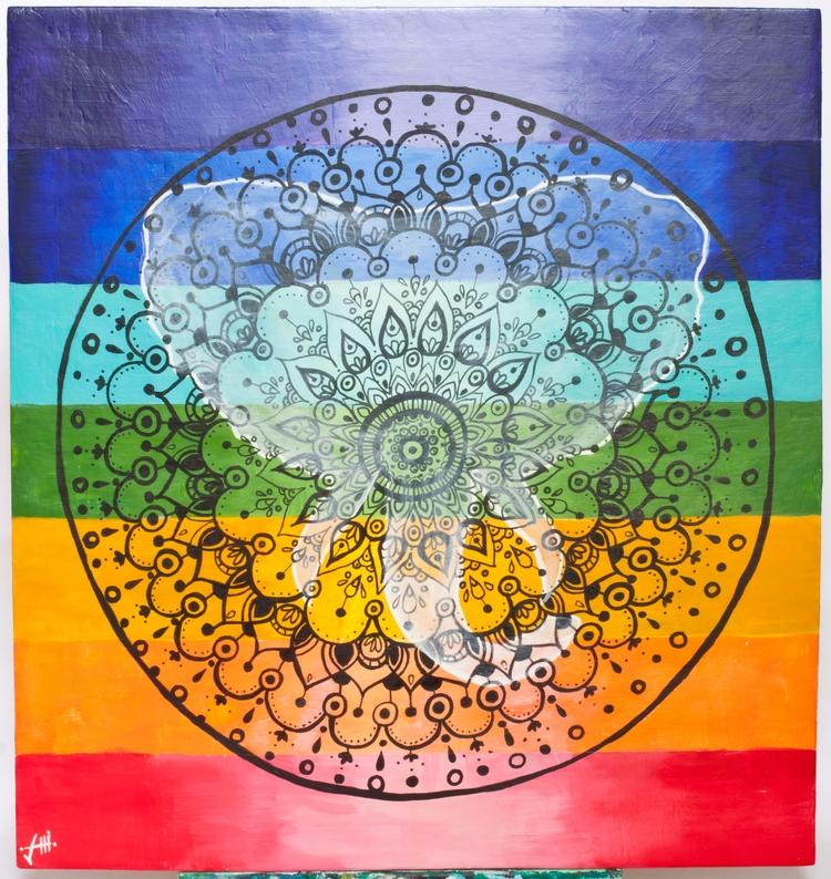 Commissioned chakra, Ganesha, m - sarahthebeanstalk | ello