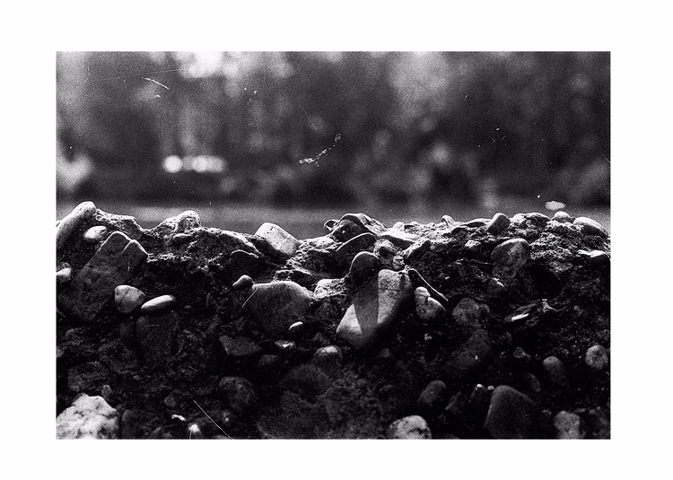 Wall - blackandwhite, wall, rocks - glauke_w_ | ello