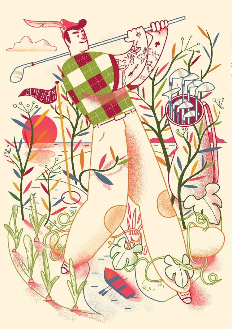 Illustration Health mag Dutch e - cesdavolio | ello