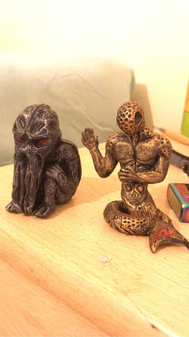 Tiny handmade Cthulhu Dagon Scu - punky859   ello