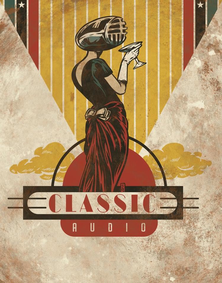 Classic Audio - illustration - thomcat23 | ello