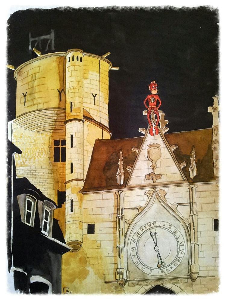 Fishman sur la tour de Encres a - romgondy | ello