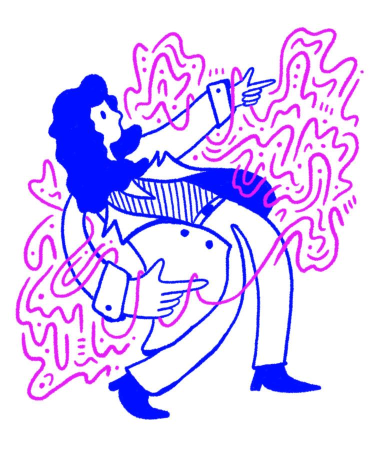 Lean - illustration, illustrator - heybop   ello
